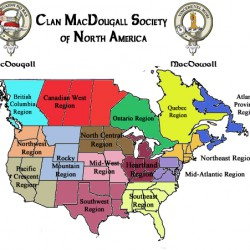 These are the various regions represented by the Society.
